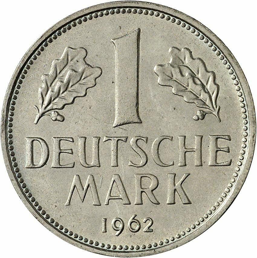 DE 1 Deutsche Mark 1962 J
