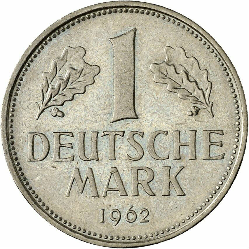 DE 1 Deutsche Mark 1962 D