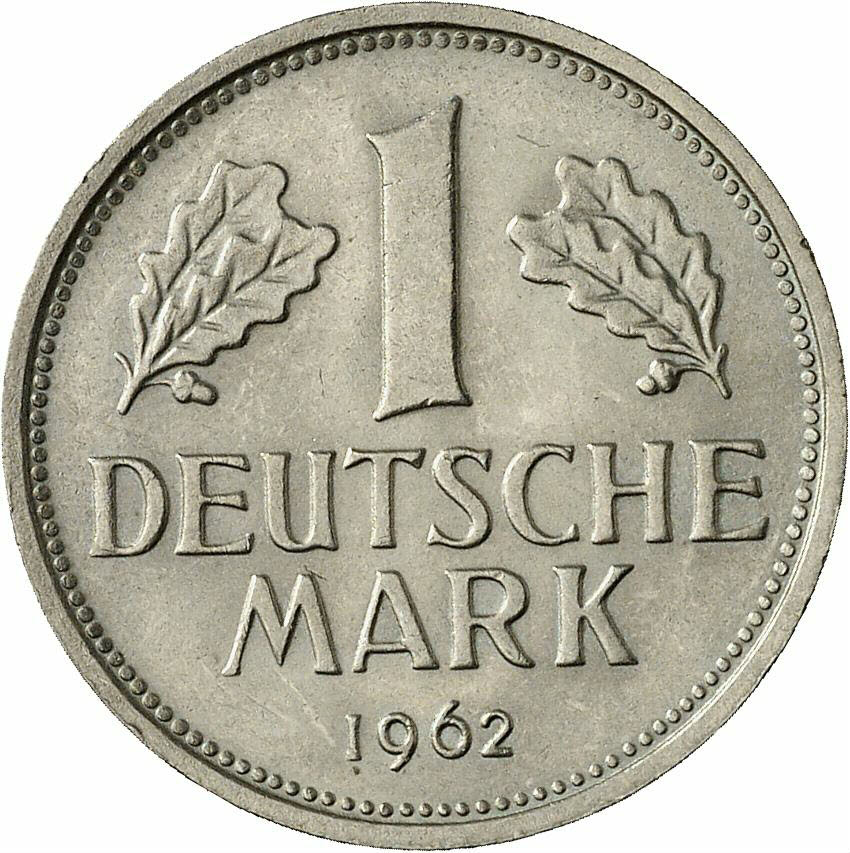 DE 1 Deutsche Mark 1962 F