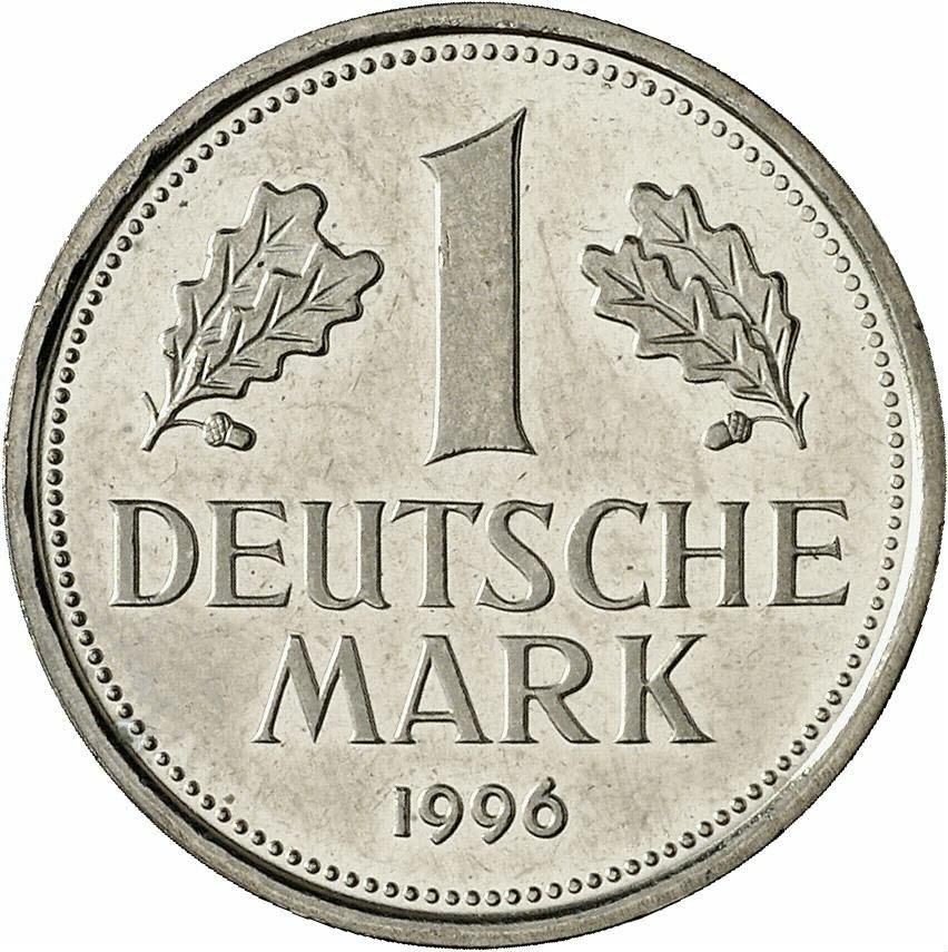 DE 1 Deutsche Mark 1996 F