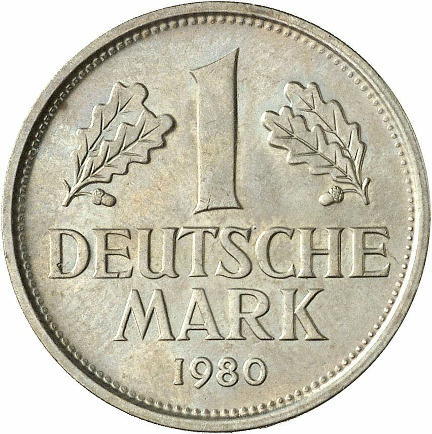 DE 1 Deutsche Mark 1980 D