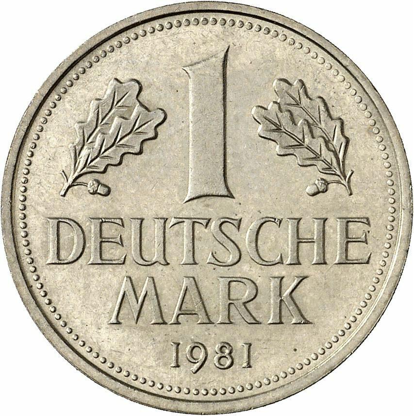 DE 1 Deutsche Mark 1981 G