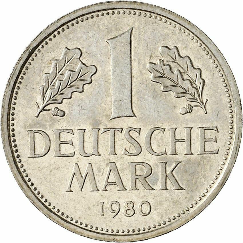 DE 1 Deutsche Mark 1980 J