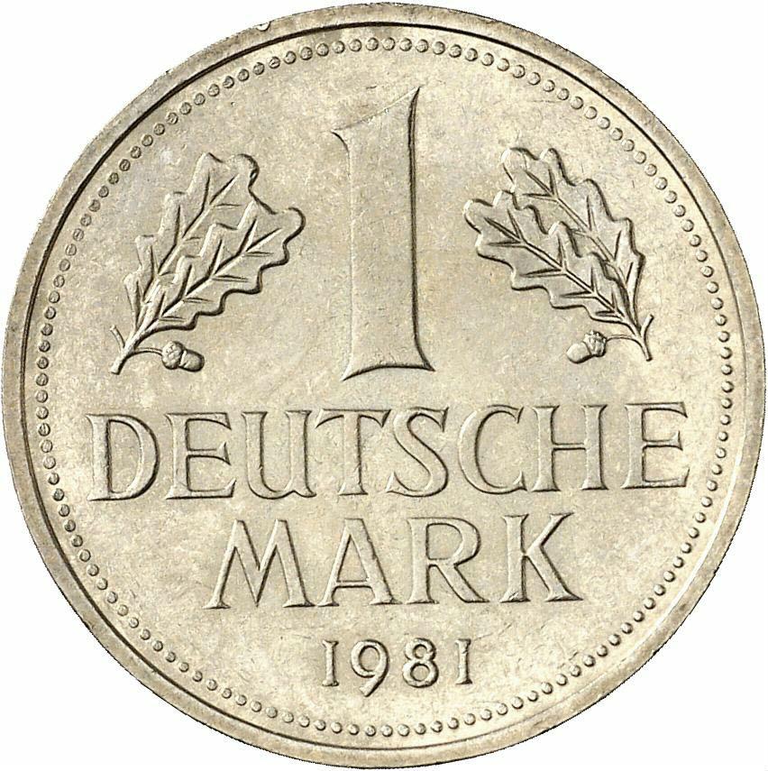 DE 1 Deutsche Mark 1981 J