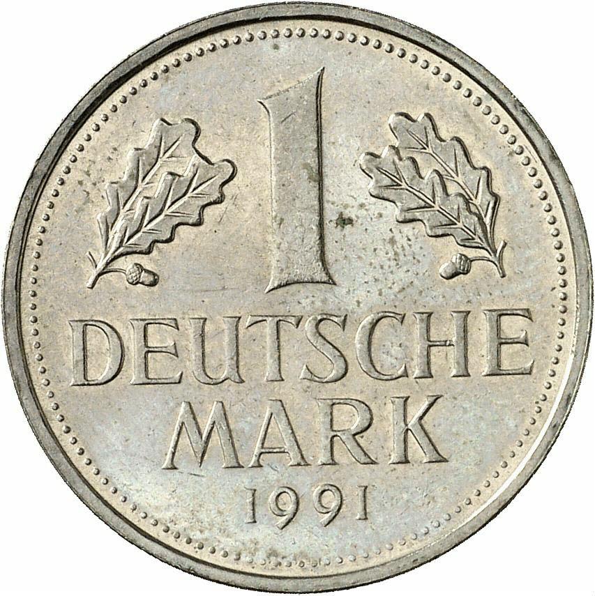 DE 1 Deutsche Mark 1991 A