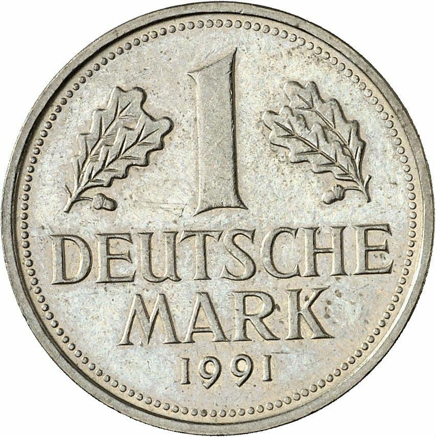 DE 1 Deutsche Mark 1991 F