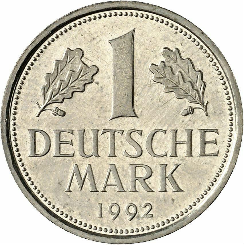 DE 1 Deutsche Mark 1992 A