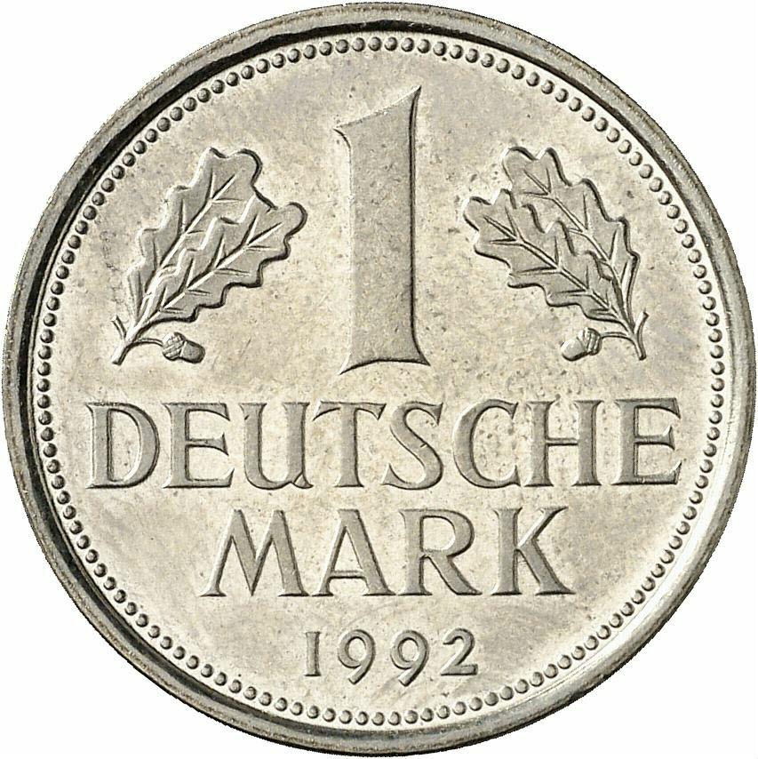 DE 1 Deutsche Mark 1992 F