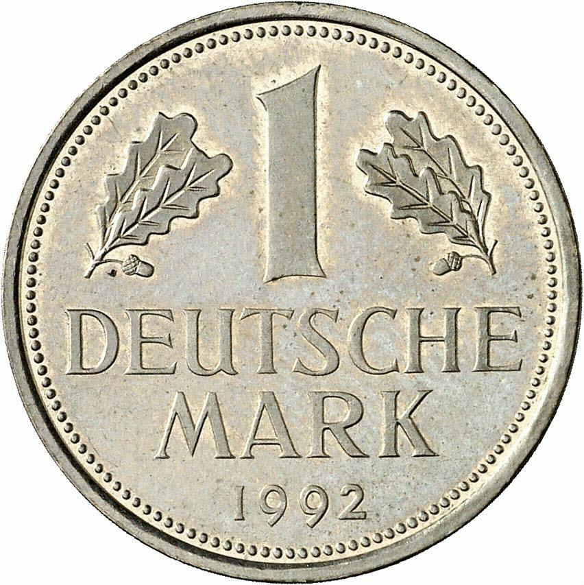 DE 1 Deutsche Mark 1992 J