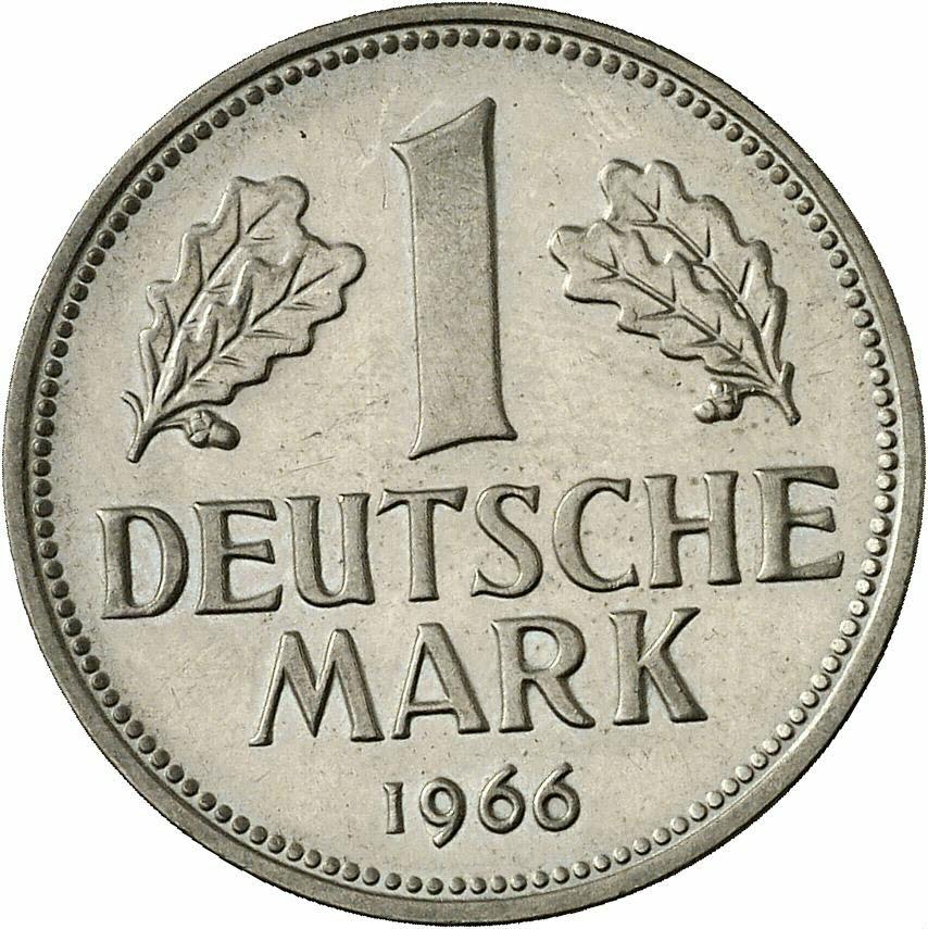 DE 1 Deutsche Mark 1966 F