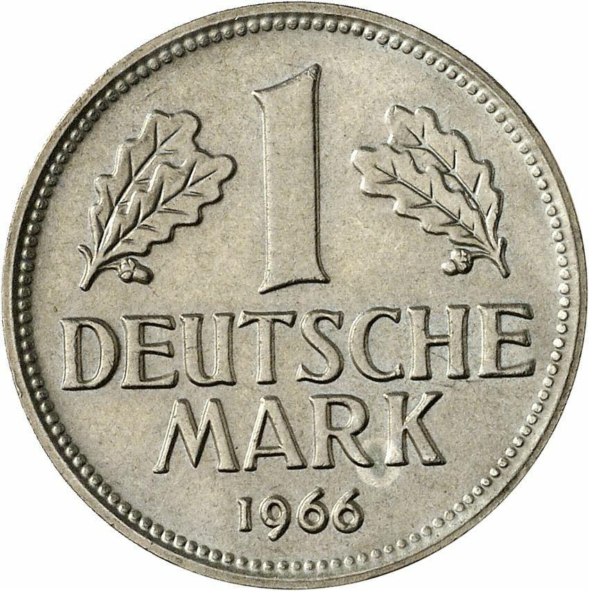 DE 1 Deutsche Mark 1966 D