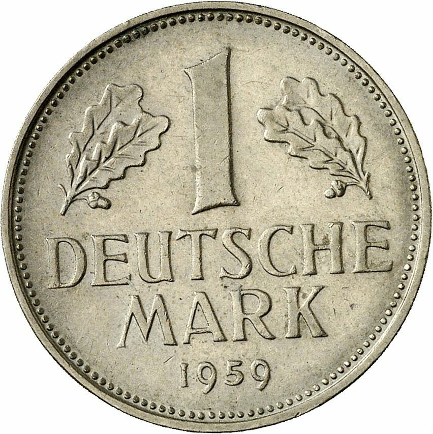 DE 1 Deutsche Mark 1959 D
