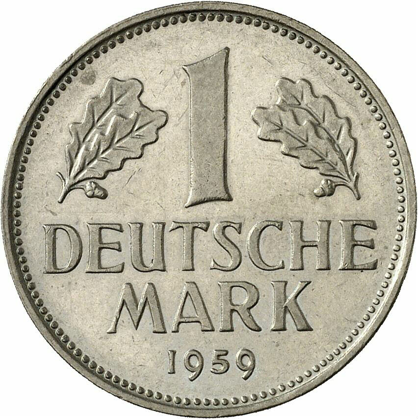 DE 1 Deutsche Mark 1959 J