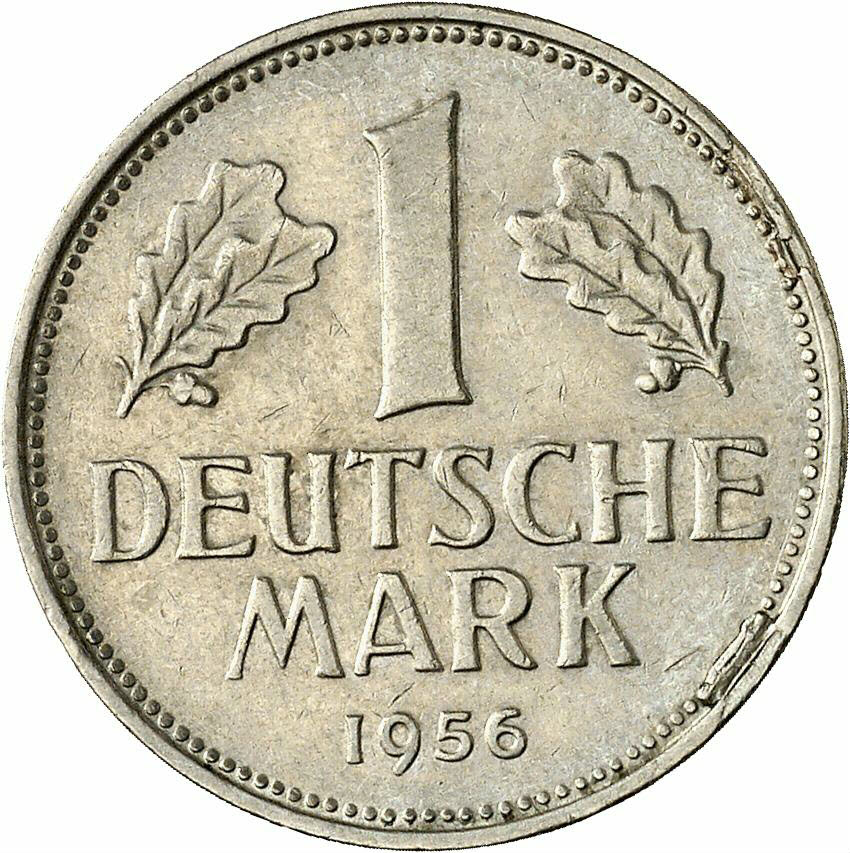 DE 1 Deutsche Mark 1956 J