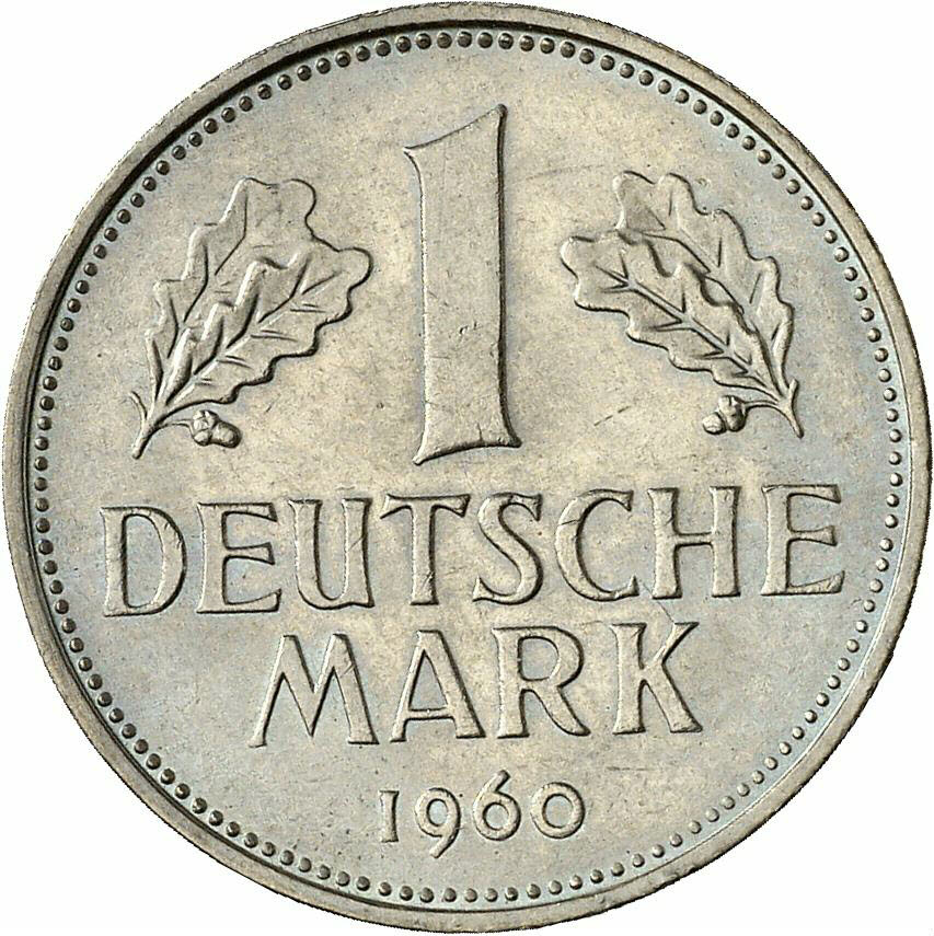 DE 1 Deutsche Mark 1960 J