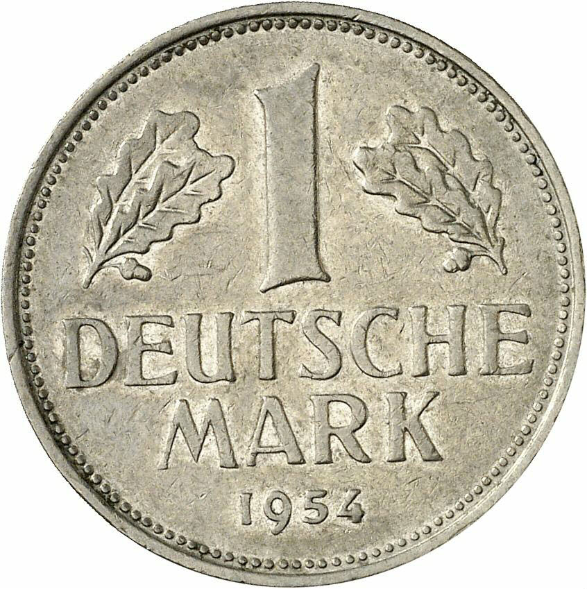 DE 1 Deutsche Mark 1954 F