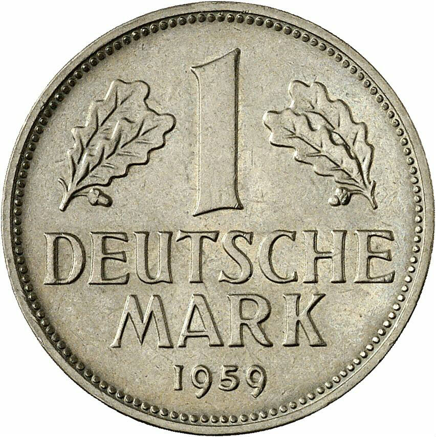 DE 1 Deutsche Mark 1959 F