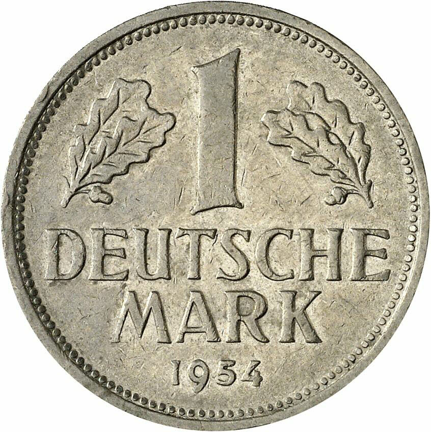 DE 1 Deutsche Mark 1954 G