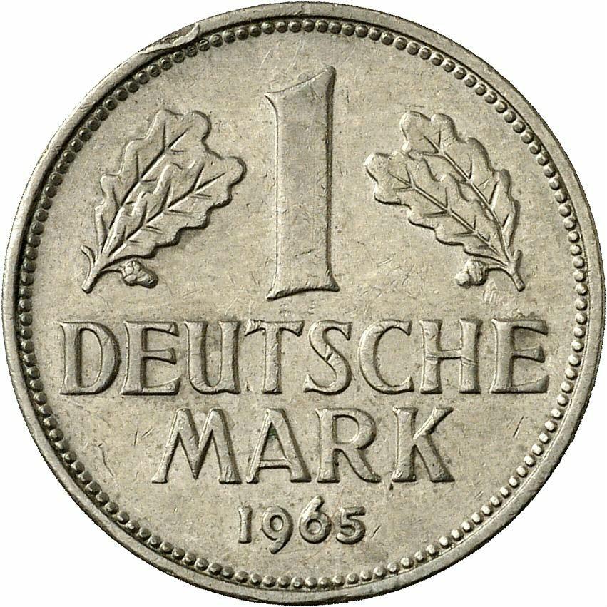 DE 1 Deutsche Mark 1965 F