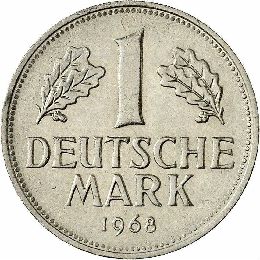 DE 1 Deutsche Mark 1968 J
