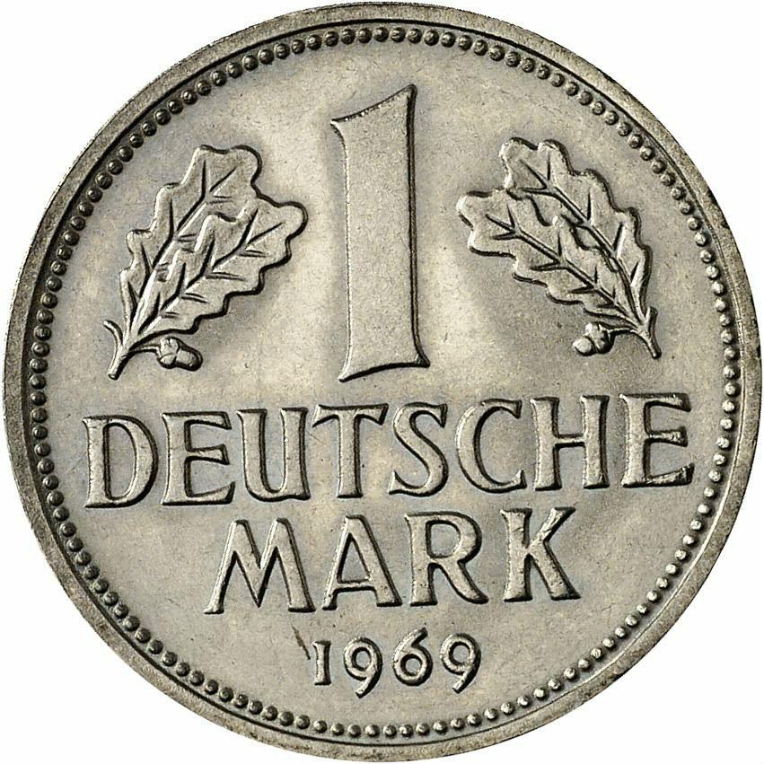 DE 1 Deutsche Mark 1969 F