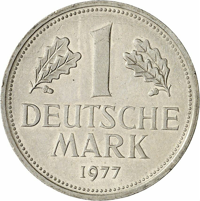 DE 1 Deutsche Mark 1977 J