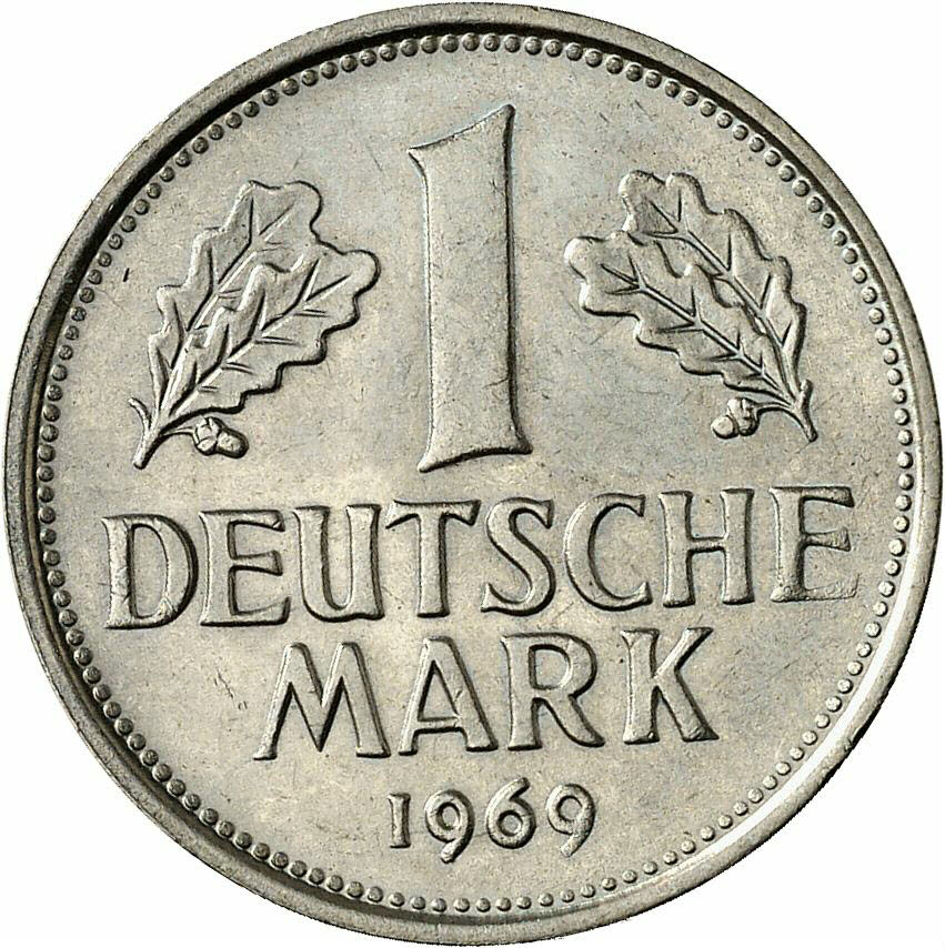 DE 1 Deutsche Mark 1969 G
