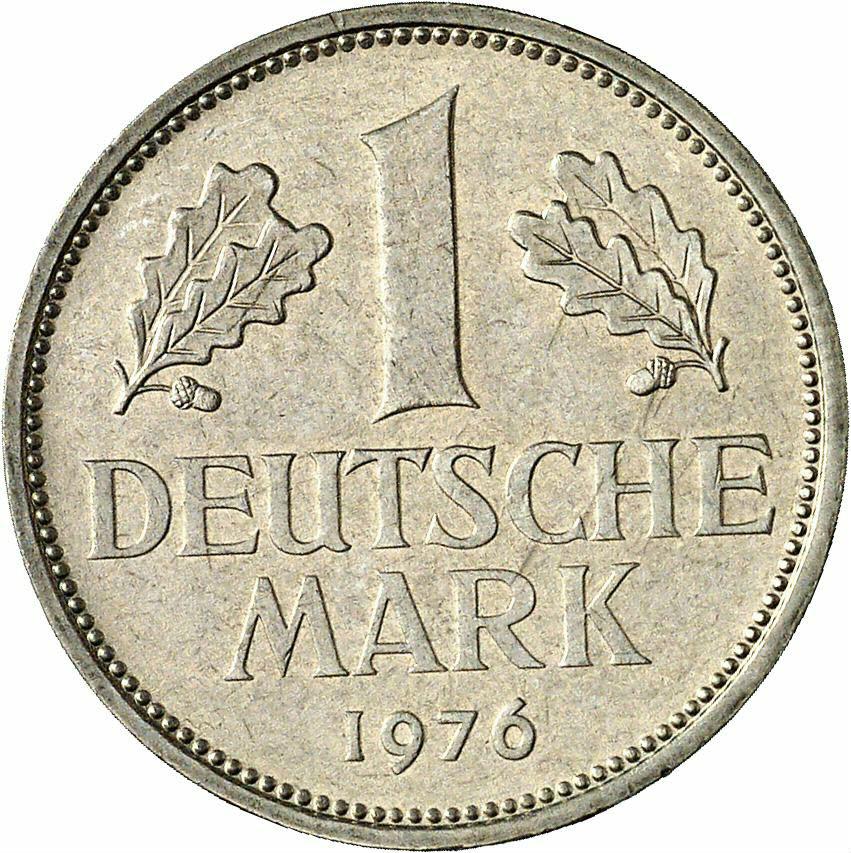 DE 1 Deutsche Mark 1976 D