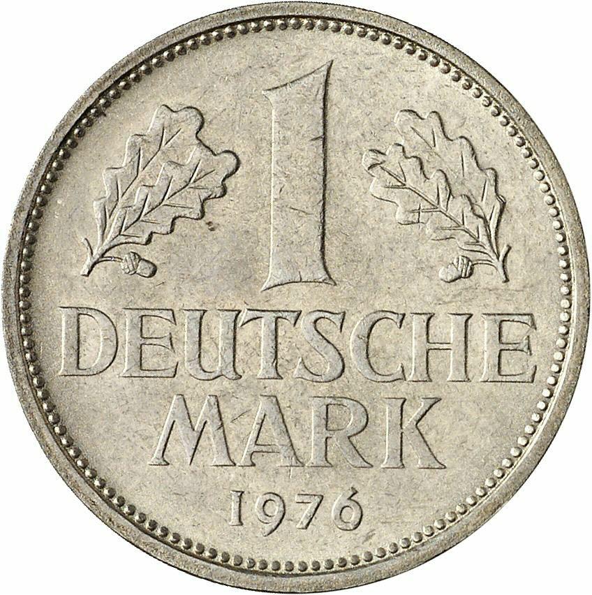 DE 1 Deutsche Mark 1976 F