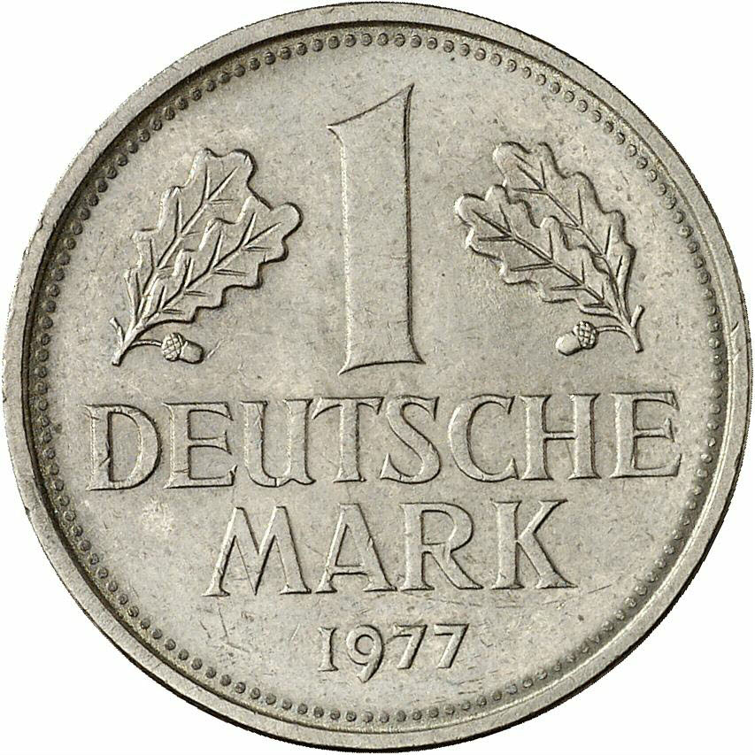 DE 1 Deutsche Mark 1977 F