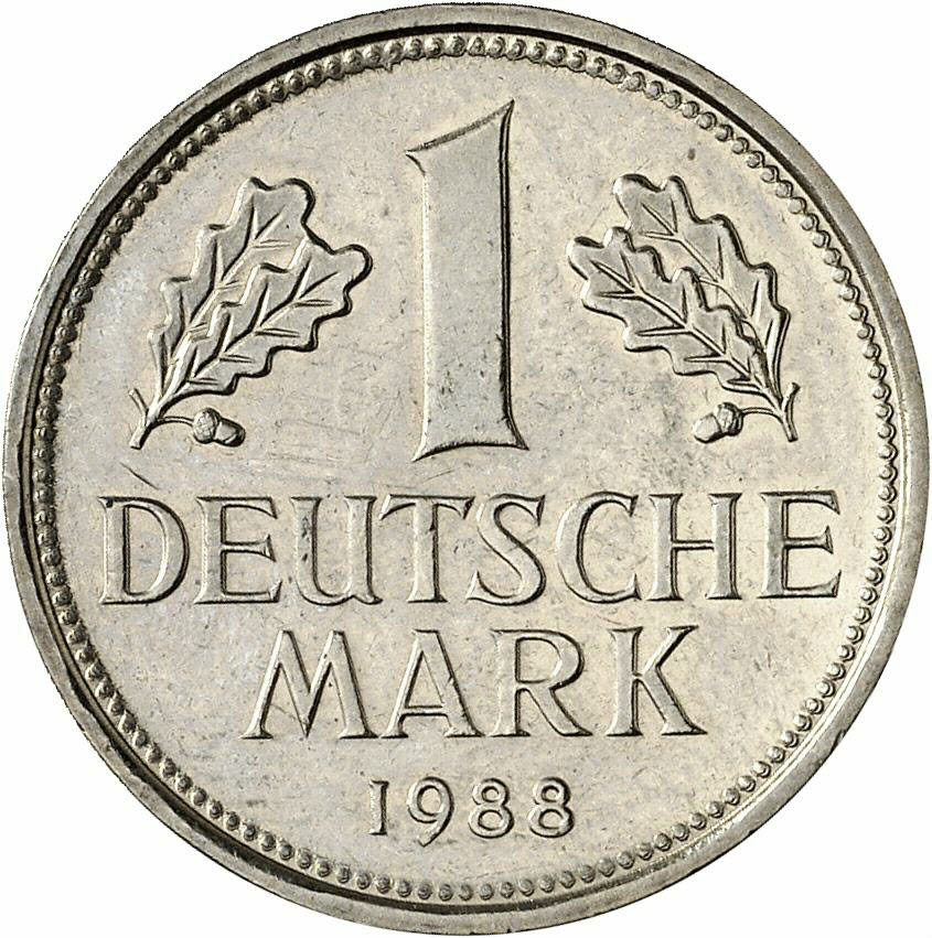 DE 1 Deutsche Mark 1988 D