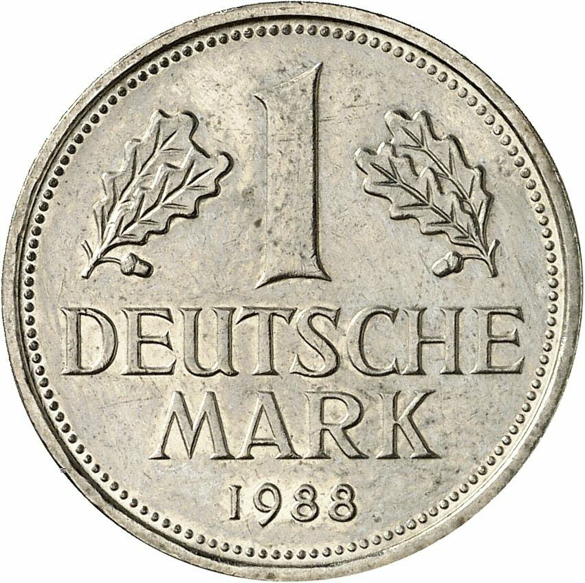 DE 1 Deutsche Mark 1988 F