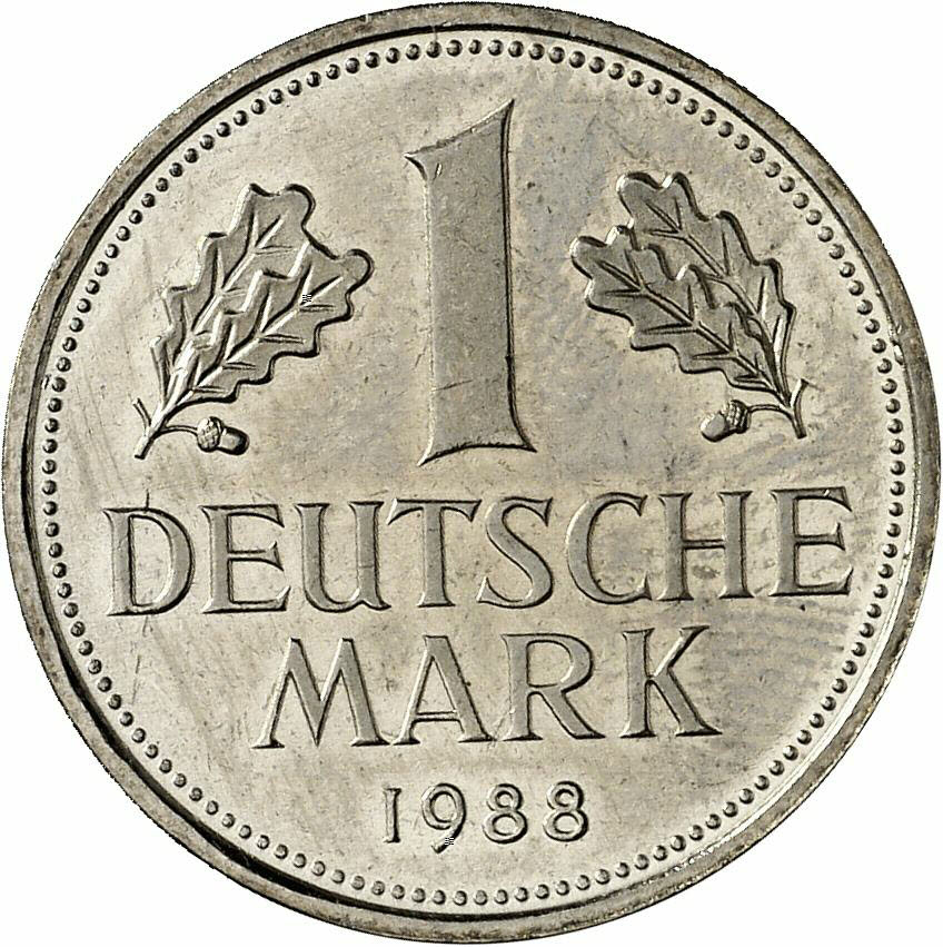 DE 1 Deutsche Mark 1988 G