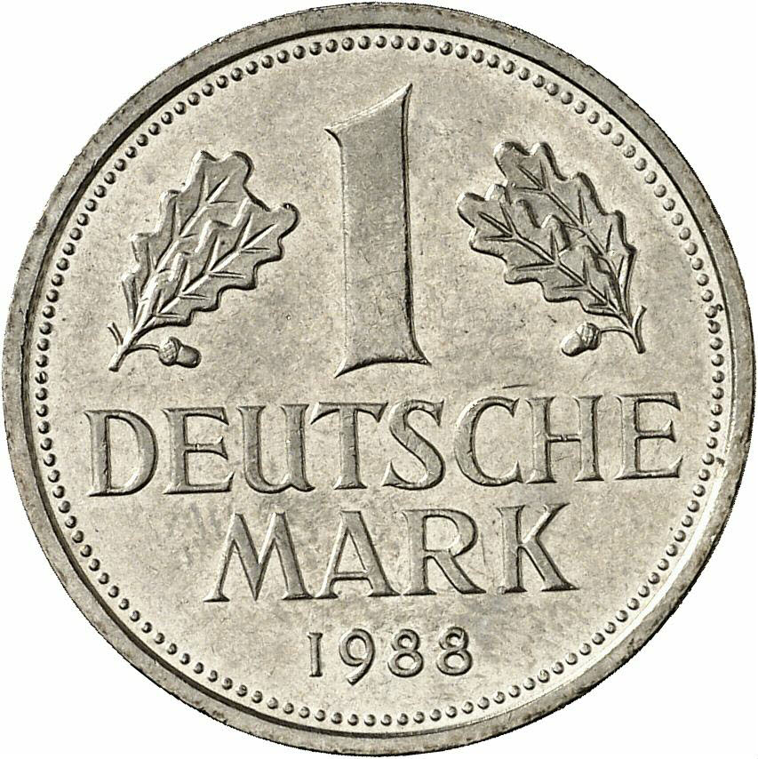 DE 1 Deutsche Mark 1988 J