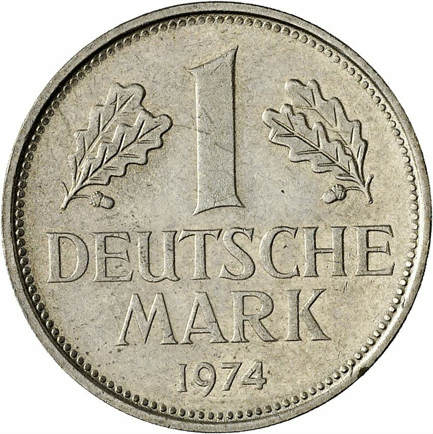 DE 1 Deutsche Mark 1974 F