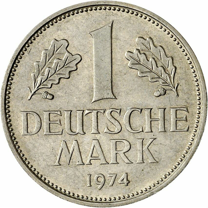 DE 1 Deutsche Mark 1974 G