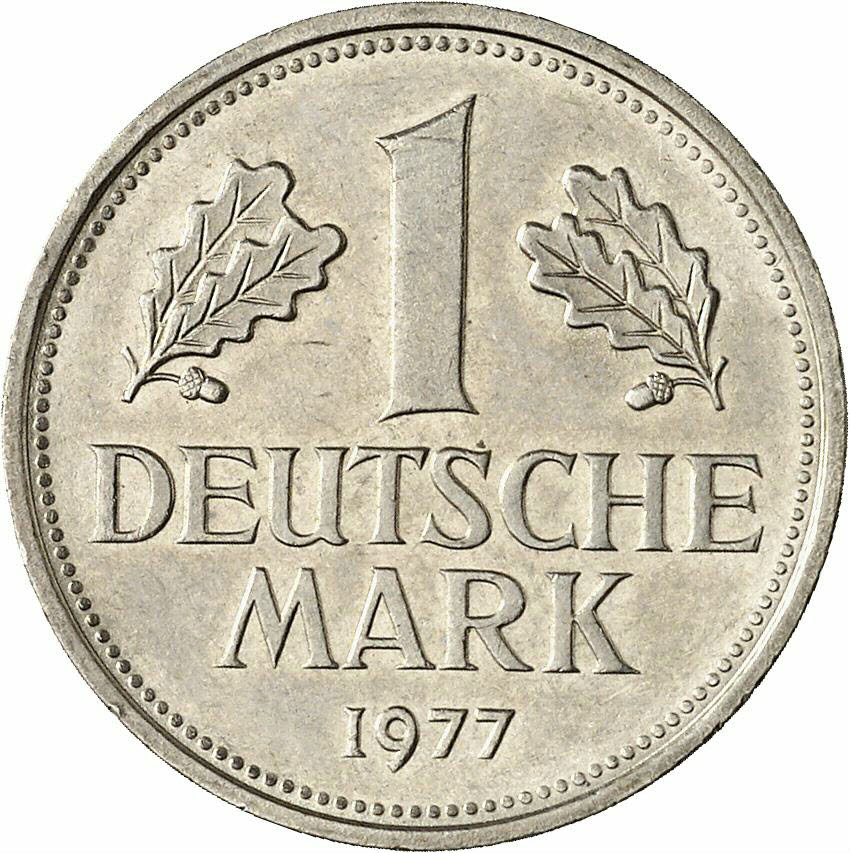 DE 1 Deutsche Mark 1977 D