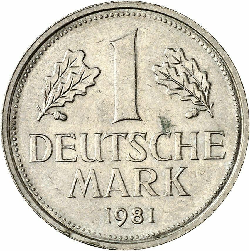 DE 1 Deutsche Mark 1981 F