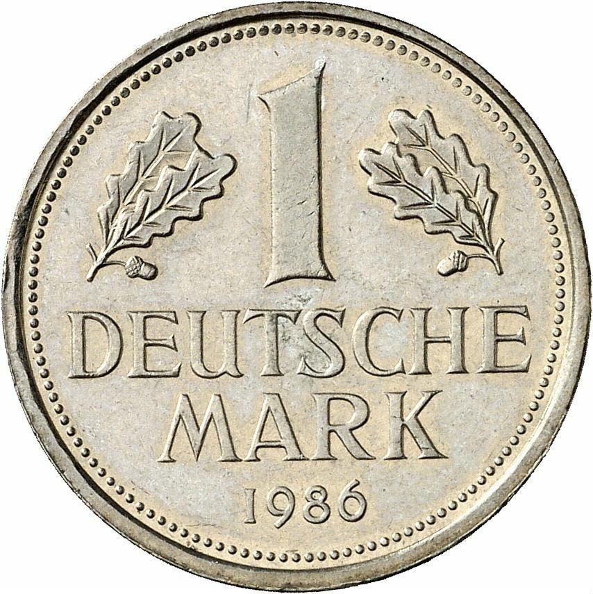 DE 1 Deutsche Mark 1986 F