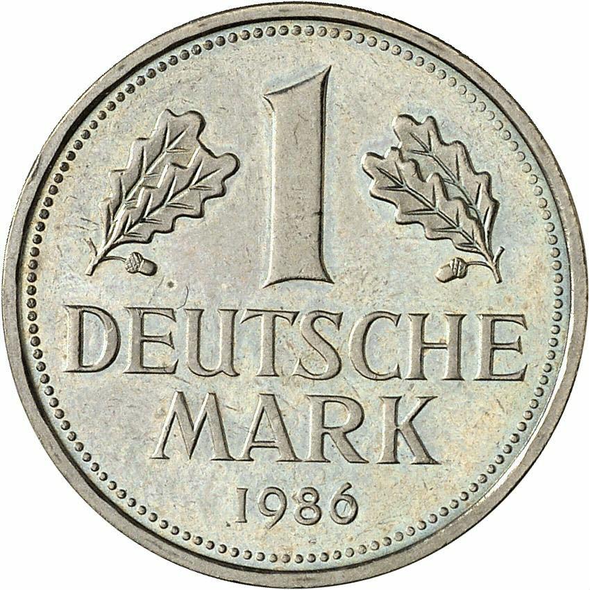 DE 1 Deutsche Mark 1986 G