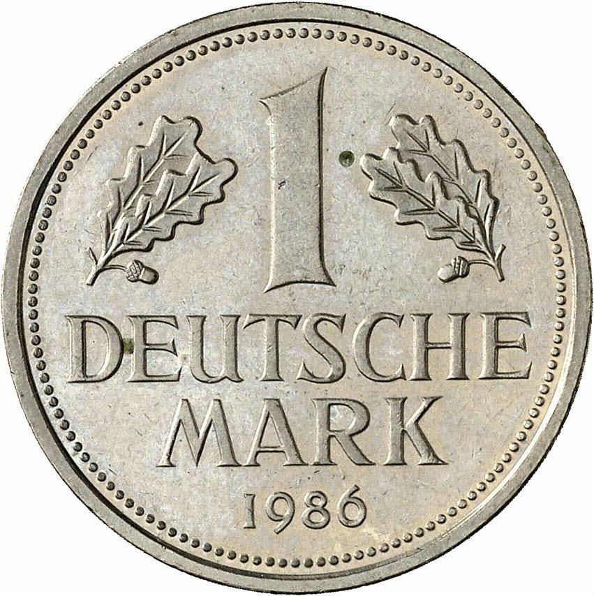 DE 1 Deutsche Mark 1986 J