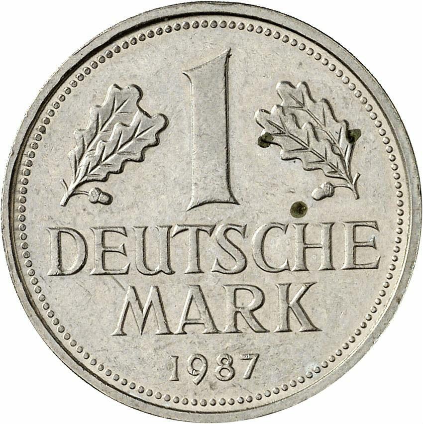 DE 1 Deutsche Mark 1987 F