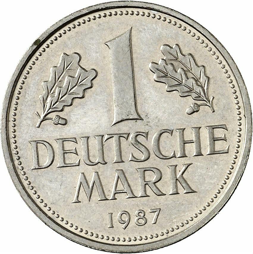 DE 1 Deutsche Mark 1987 G