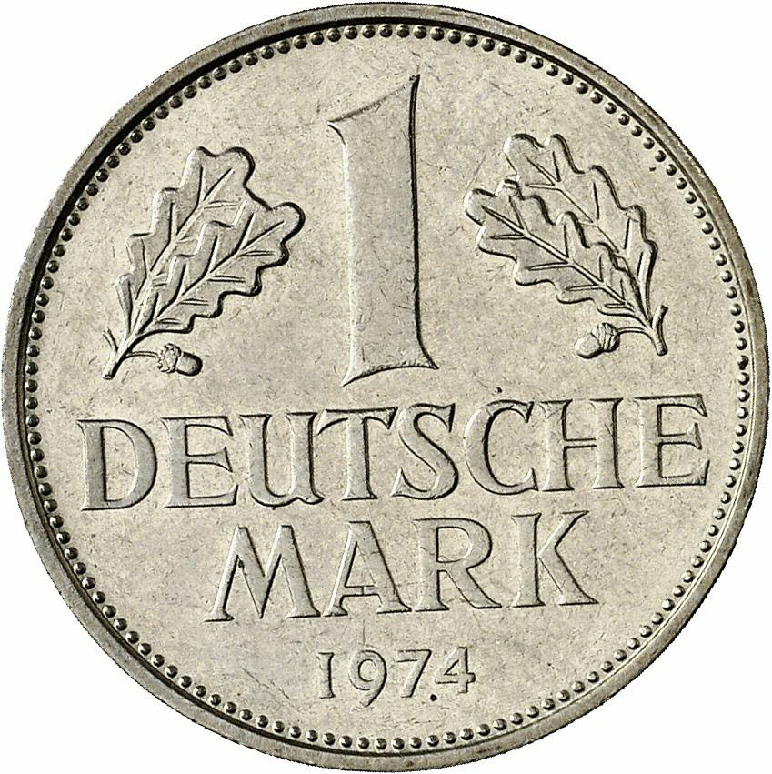 DE 1 Deutsche Mark 1974 D