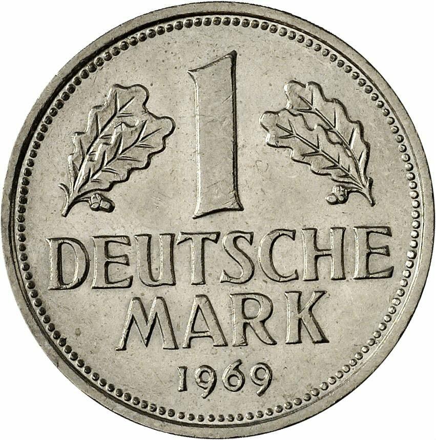 DE 1 Deutsche Mark 1969 J
