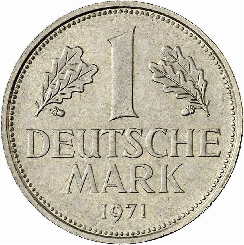 DE 1 Deutsche Mark 1971 J