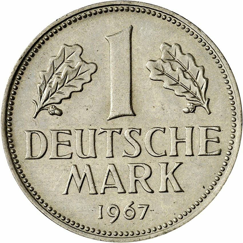 DE 1 Deutsche Mark 1967 D