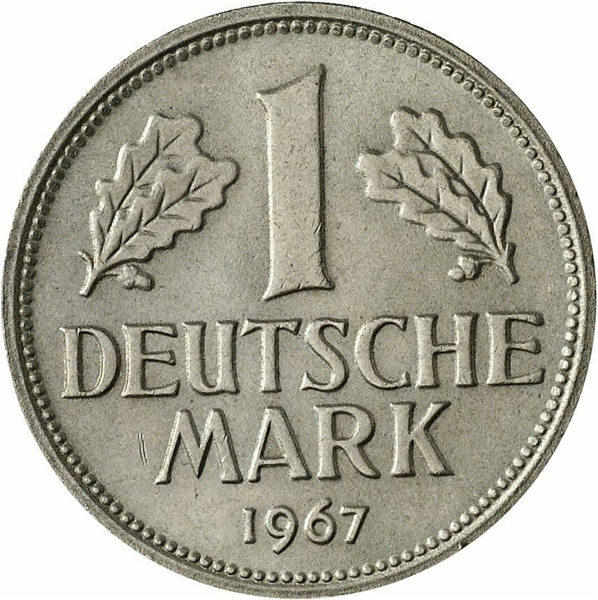DE 1 Deutsche Mark 1967 F