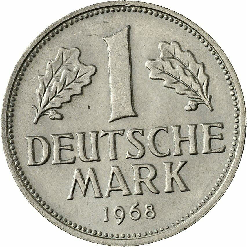 DE 1 Deutsche Mark 1968 F