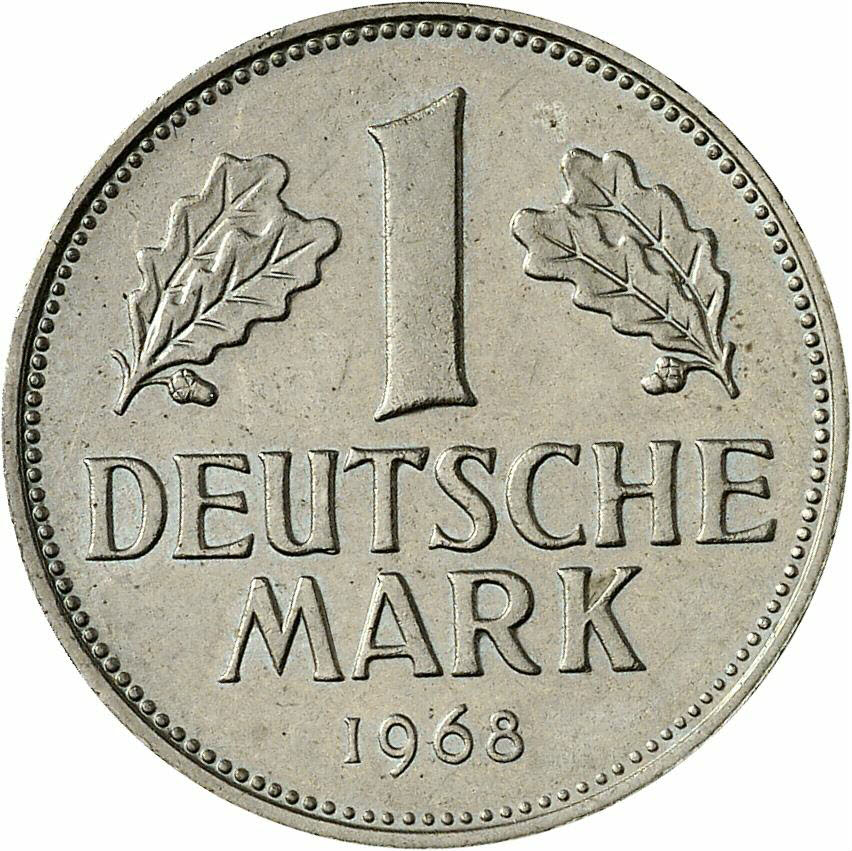 DE 1 Deutsche Mark 1968 G